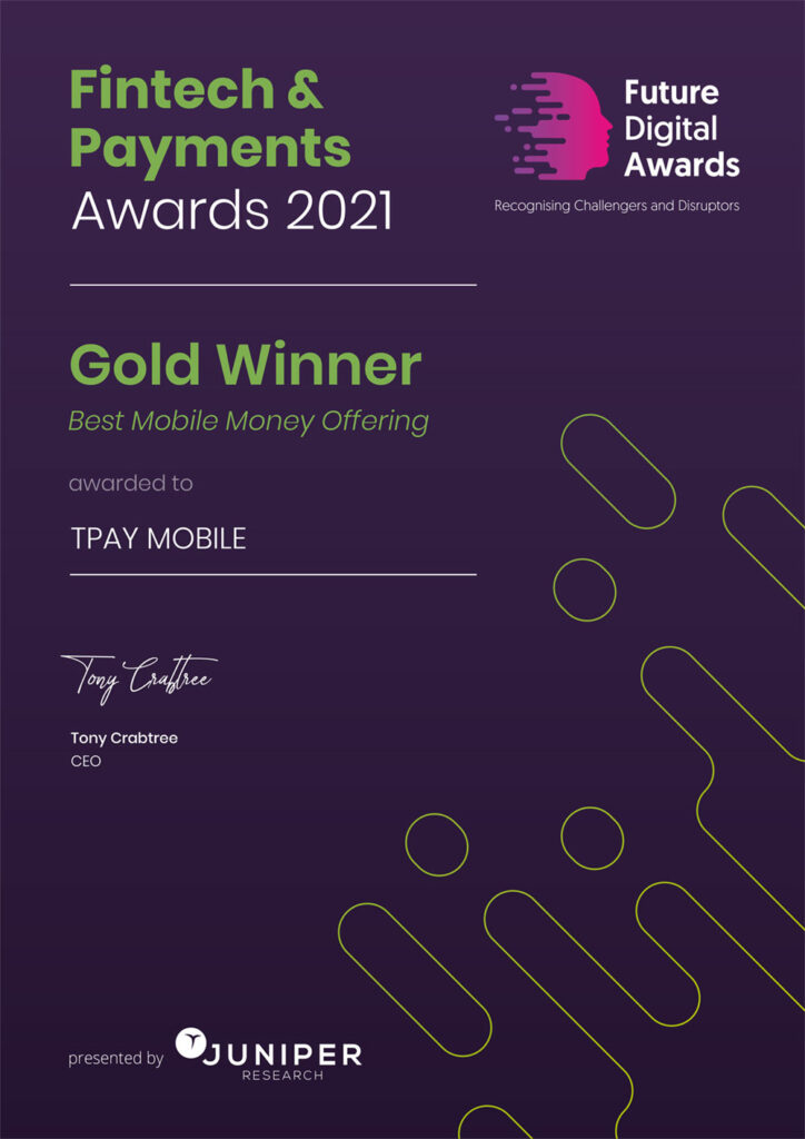 TPAY MOBILE Certificate